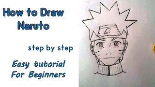 How to draw NARUTO for absolute beginners step by step easy narrated tutorial - details : http://hellxfun.blogspot.com/  fb: https://www.facebook.com/hellxfun free easy lesson for kids that are wanting to learn how to draw naruto or any male manga character, I have already made a tutorial about how to draw a manga girl or beginners (you can watch it on my channel under the manga drawin tutorials playlist) this drawing was actually requested by few followers, I tried it to stream it live on youtube and I did but I guess there was something wrong, there is a big delay in the sound that makes it hard to follow the drawing guide.I must say I do not know this manga character called Naruto, never watched it, but I know he's a popular celebrity among manga fans especially kids, so I decided why not? I'm sorry for my English, as you can see and hear I'm not the best narrator, it's the first time I make a drawing tutorial narrated by my own voice :) I made a lot of mistakes :D