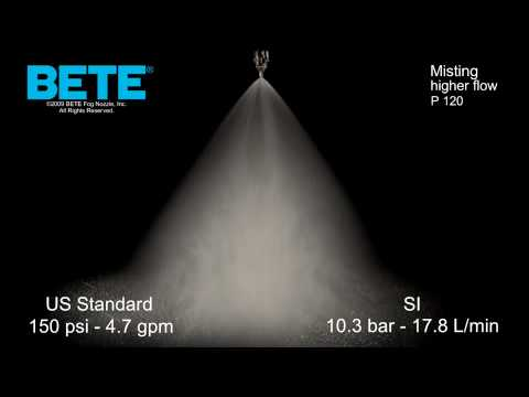 P 120 - Higher Flow Misting Spray Pattern Video