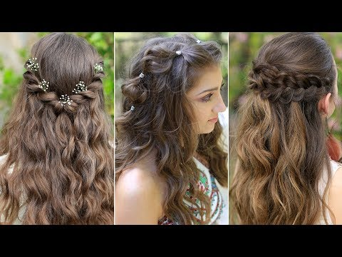 Braid hairstyles - 3 Easy Boho PROM Hairstyles  Half Up Hairstyles Compilation 2019