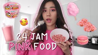 Video 24 JAM CUMAN MAKAN YANG WARNA PINK DOANG!!! MP3, 3GP, MP4, WEBM, AVI, FLV September 2019