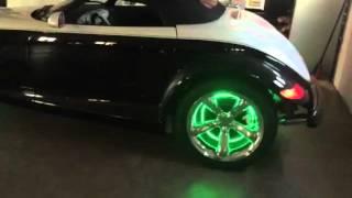 Plymoth prowler with custom wheel lights
