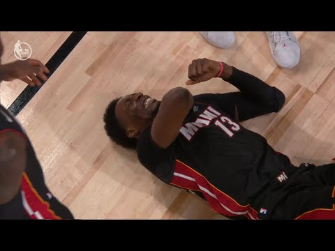 Bam Adebayo left Game 1 of the NBA Finals with a left arm injury | Game 1 | Heat vs Lakers