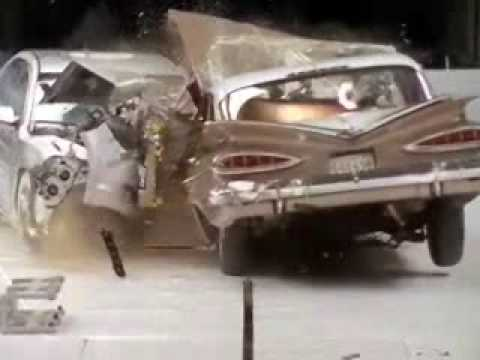 Crash Test 1959 Car Vs 2009 Car