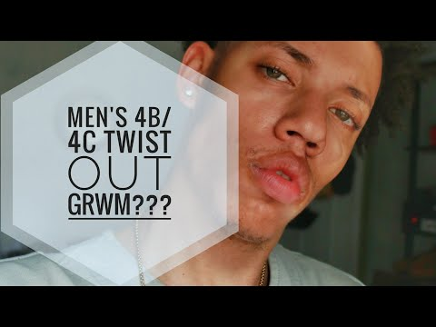 Men's 4b/4c Twist Out| Chit Chat| *shake cam*