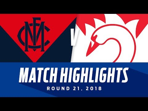 Melbourne V Sydney Highlights | Round 21, 2018 | Afl