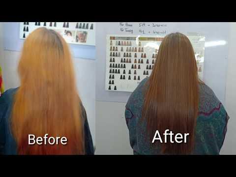 hair dye tutorial in urdu / keune hair color highlights / Yellow from Blonde Hair/Nazia Khan
