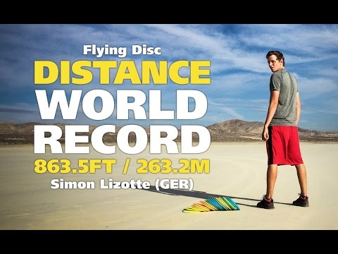 Simon - 21-year-old German super talent Simon Lizotte broke the flying disc distance World Record on October 25th 2014 with a 863.5ft / 263.2m throw at the Fall Desert Wind Open distance event in Primm,...