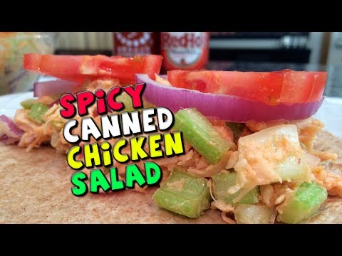 Spicy Canned CHICKEN Salad Recipe (Healthy + Low Fat)