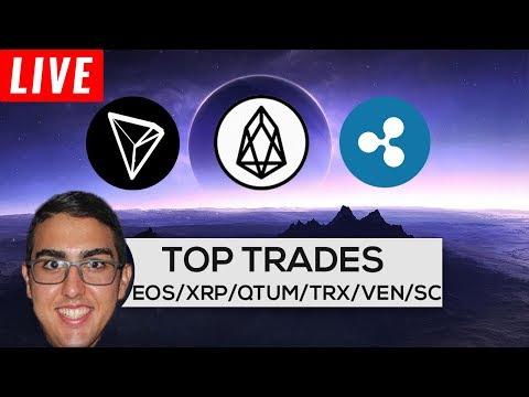 Top Trades: EOS ($EOS), Ripple ($XRP), Qtum ($QTUM), Tron ($TRX), VeChain ($VEN), & Siacoin ($SC)! (видео)