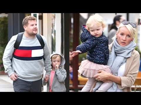 James Corden Gets Time With His Children In Malibu