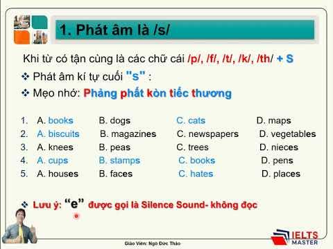 Chuyên Đề: Cách phát âm /s/, /iz/, /z/ (THPTQG) - THCS & THPT Phạm Ngũ Lão và IELTS Master HCM