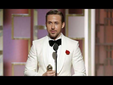 Golden Globes 2017: Ryan Gosling wins best actor award for La La Land (видео)