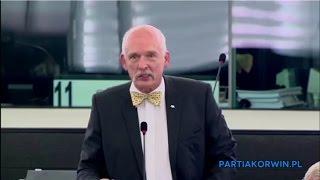 """""""Europę zalewa afrykańskie szambo!"""" Korwin kolejny raz wk*rwił wszystkich swoim przemówieniem!"""