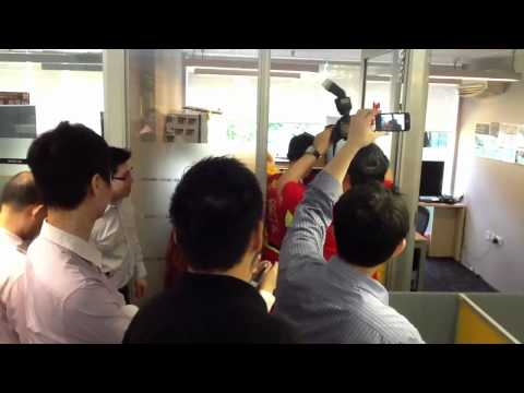 Lion Dance At Savills Office