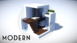 Minecraft: How To Build A Small Modern House Tutorial #100
