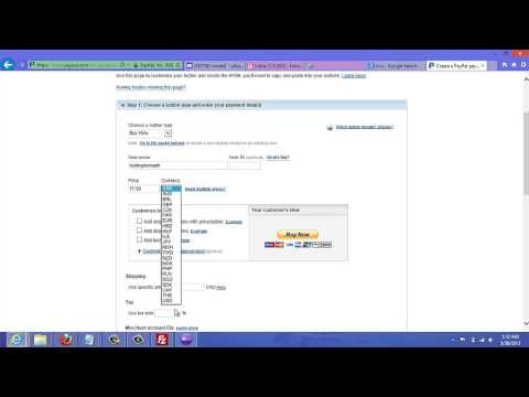 Video 4 – Create PayPal Button