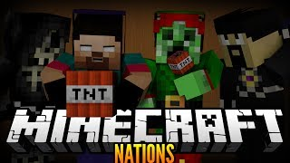 """TACTICAL NUKE!"" Minecraft NATIONS w/NoahCraftFTW, Antvenom, DrPlaystation&Justin! #5"