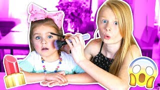 Video DOING MY 6 YEAR OLD SISTERS MAKEUP CHALLENGE! 😱💄 MP3, 3GP, MP4, WEBM, AVI, FLV Desember 2018