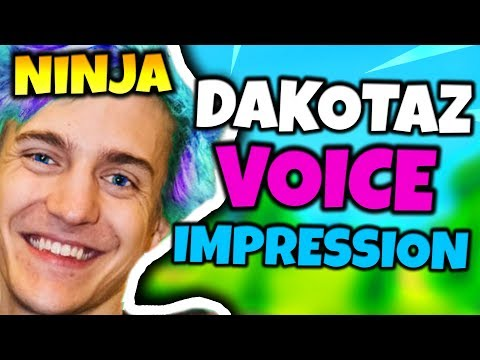NINJA DOES DAKOTAZ VOICE IMPRESSION | Fortnite Daily Funny Moments Ep.42