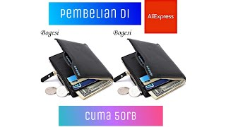 Dompet Bogesi, pembelian Aliexpress 4,28 $ Video