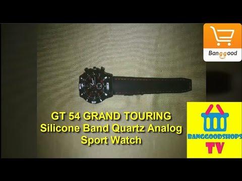 GT 54 GRAND TOURING Silicone Band Quartz Analog Sport Watch