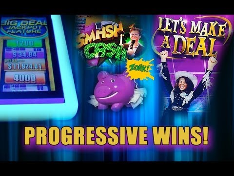 BIG WIN! – Let's Make A Deal – PROGRESSIVE WINS – Slot Machine Bonus – Aristocrat