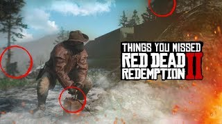 THINGS YOU MISSED IN RED DEAD REDEMPTION 2 GAMEPLAY TRAILER 2!