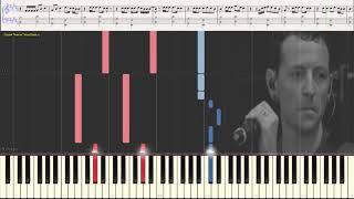 Invisible - Linkin Park (Easy) (Ноты и Видеоурок для фортепиано) (piano cover)
