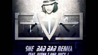 Eve - She Bad Bad (Remix) (feat. Pusha T & Juicy J) lyrics (Japanese translation). | [Hook], Oh she bad bad, oh she bad bad, Oh she bad bad, oh she bad bad, Oh she bad bad, oh she...
