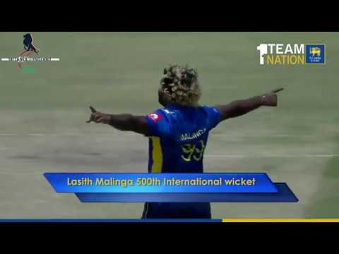 Lasith Malinga's 500th International Wicket
