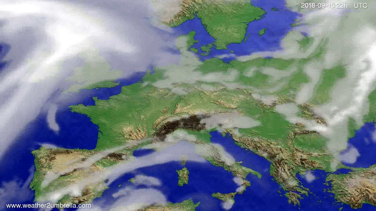 Cloud forecast Europe 2018-09-13