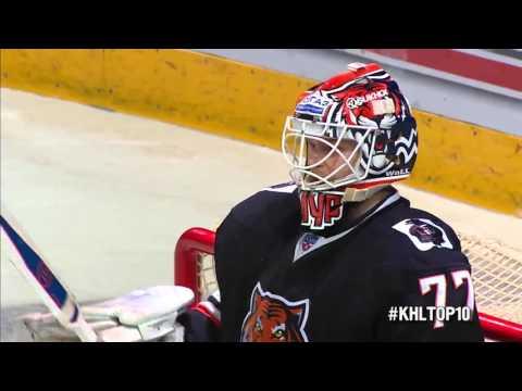 Top 10 First Half KHL Saves / Лучшие сэйвы первой половины сезона КХЛ (видео)