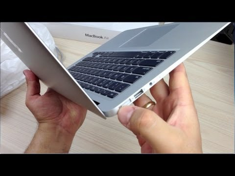 macbook Air - http://www.youtube.com/StuffYouShouldBuy - A just purchased, brand new, never opened, Unboxing of a Macbook Air. I'll walk you through it from sealed in the ...