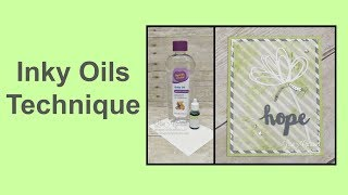 Video Quick Crafting Tip - Inky Oils Technique MP3, 3GP, MP4, WEBM, AVI, FLV Agustus 2017