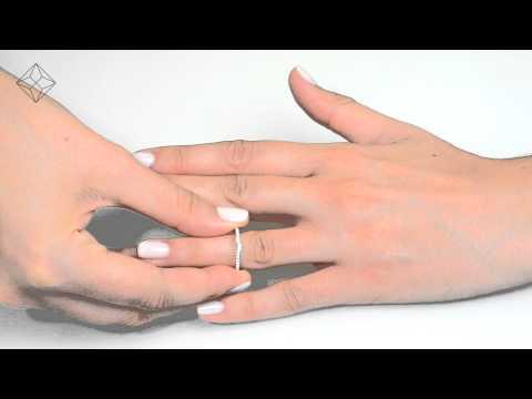 DN3242 - 1ct Diamond Bridal Wedding Ring Set In White Gold