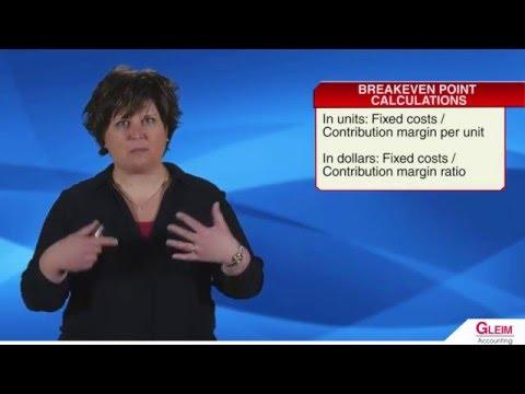 The Basics of Cost-Volume-Profit Analysis (видео)