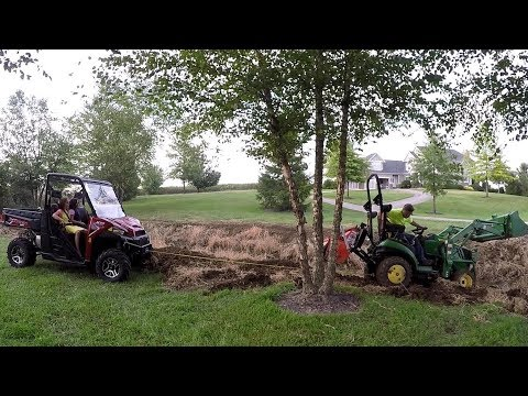 Winch Rescue! Compact Tractor Tackles Mud, Mountains, and Snake (видео)