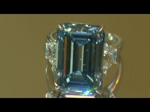 Rarest vivid blue diamond goes on auction in Geneva
