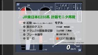 【計器モニタ再現】JR東日本E233系 左側計器モニタ再現