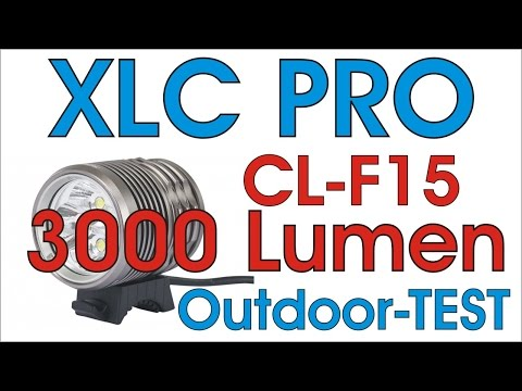 Outdoortest: XLC PRO CL-F15 HELMLAMPE 3000 LUMEN im Outdoor Reichweiten-Test (HD)