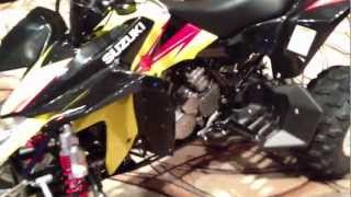 7. 2013 Suzuki QuadSport Z400 in Yellow and Black.