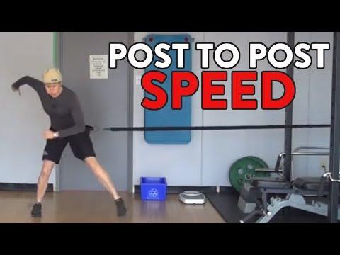 Hockey Goalie Training Drills:  Post to Post Speed
