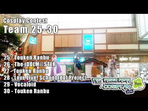 The Paseo Park Cosplay 2016 – Cosplay Contest Team No.25-30