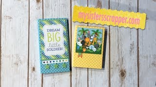 Hello everyone! Today I want to share a couple of cute little Folios that I created for my nephew who just became a new Daddy! I used a couple of different collections from Doodlebug. I used Dragon Tails and At the Zoo for these quick little projects! Have a great day!