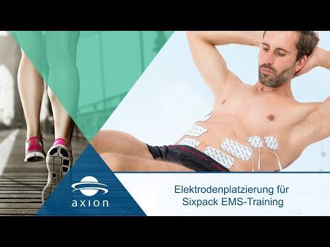 EMS: Bauchmuskeltraining mit Elektrostimulation - Elektroden richtig platzieren