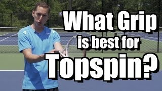 http://www.essentialtennis.com So what grip is best for topspin on the forehand side? Eastern or semi western? The answer may surprise you during today's fre...
