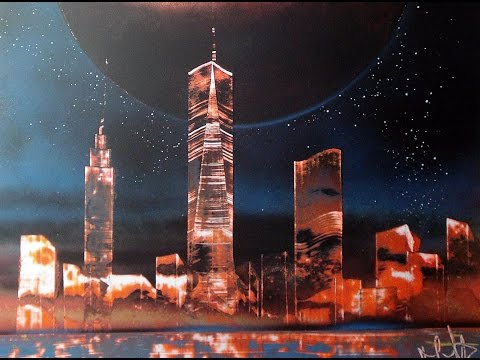how to spray paint one world trade center NYC - Poster Board