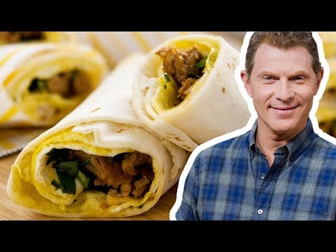 Bobby Flay Makes A Rolled Omelet Burrito | Food Network