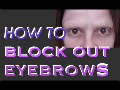 How to Block Out Eyebrows