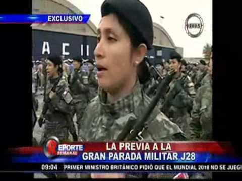 Todo listo para la Gran Parada Militar del Perú,